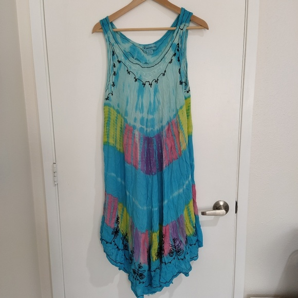 Tommy Bahama Dresses & Skirts - Tie dye embroidery free size dress